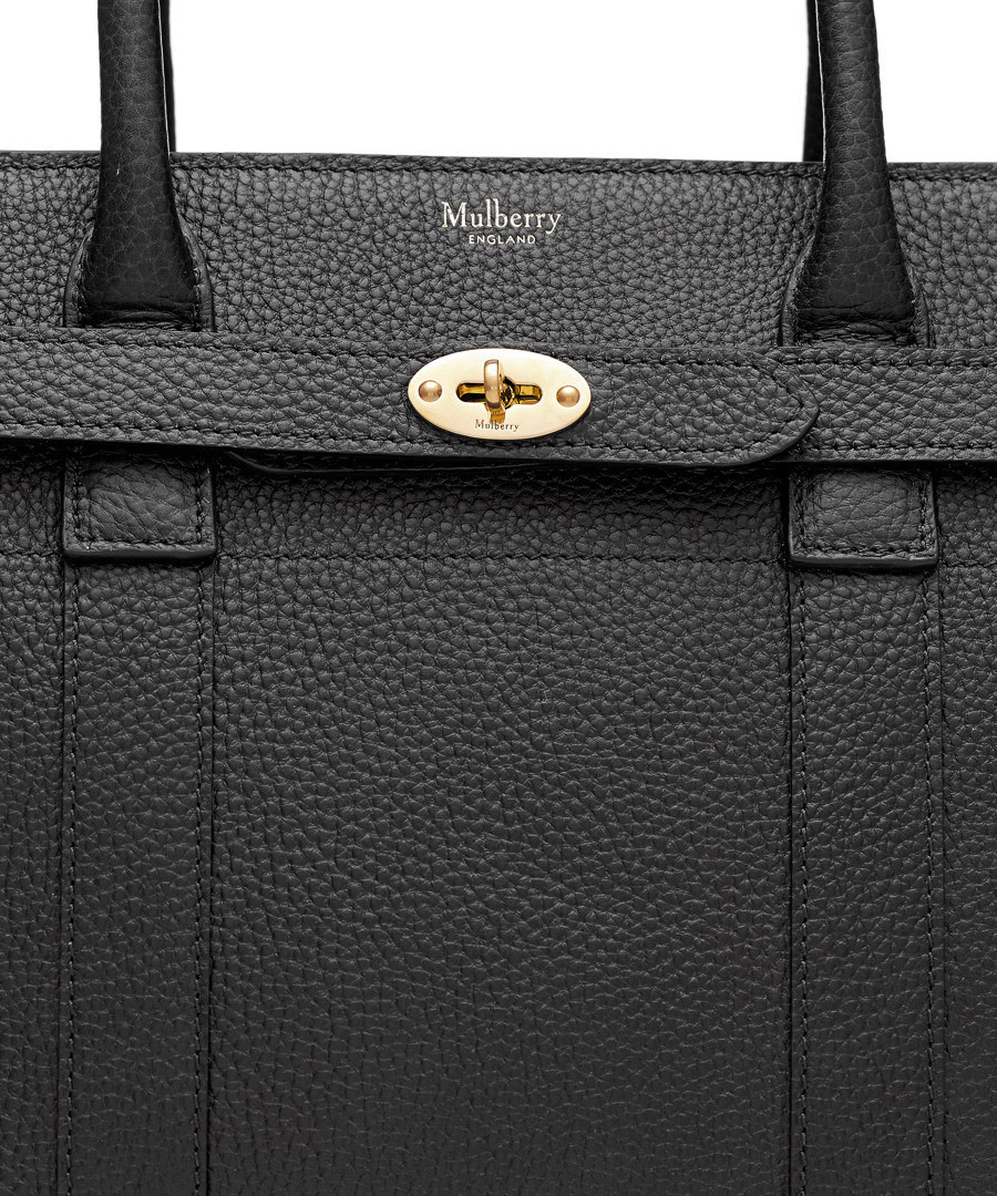 ... Small Zipped Bayswater black leather bag Sale - Mulberry ... aa1b40ade0913