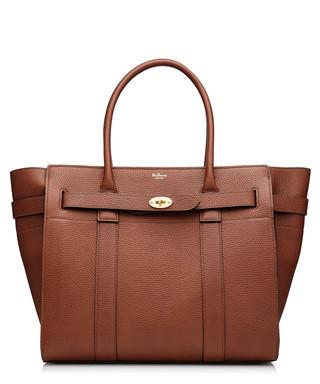 a33586e2952e Mulberry. Zipped Bayswater oak leather grab bag