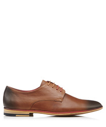 Roger brown leather textured shoes