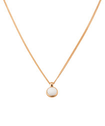 Lone rose gold-tone & white pendant