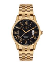 Le Maitre gold-tone & black watch