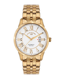 Le Maitre gold-tone & white watch