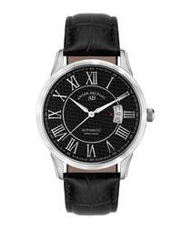 Le Maitre black leather watch