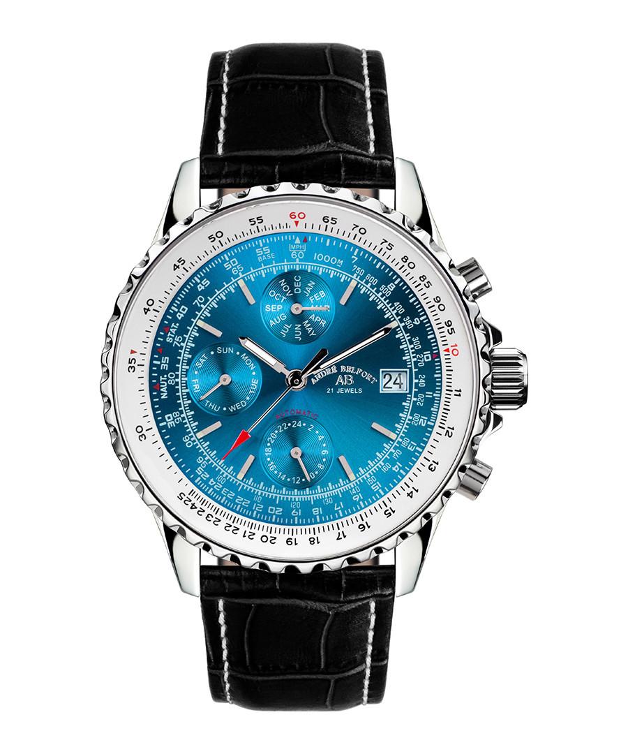 Universe black & blue leather watch  Sale - andre belfort