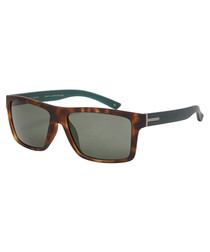 Connor tortoiseshell & green sunglasses