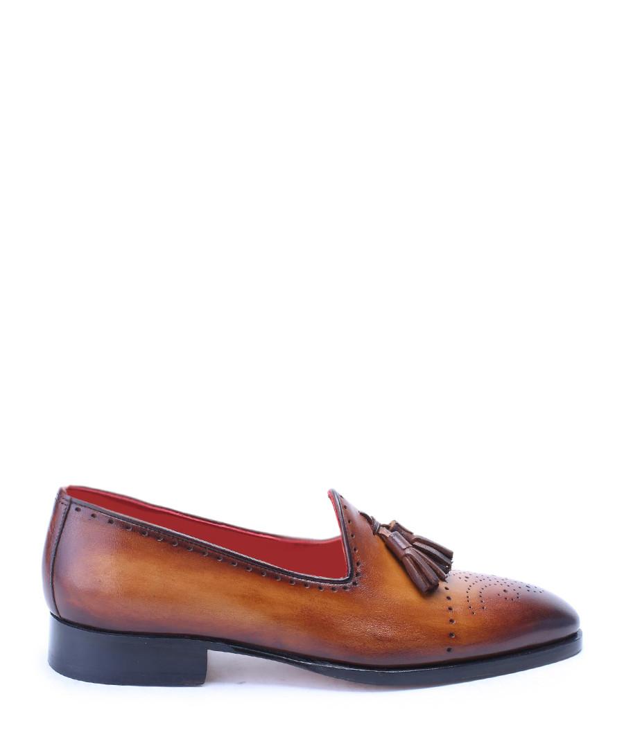 Tan leather tassel loafers Sale - deckard