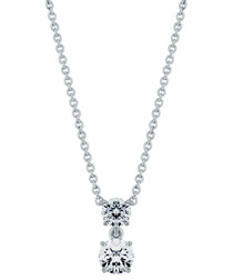 Deuce white gold-plated necklace
