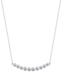 Indo white gold-plated necklace