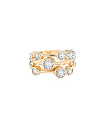 Cluster 14k gold-plated ring