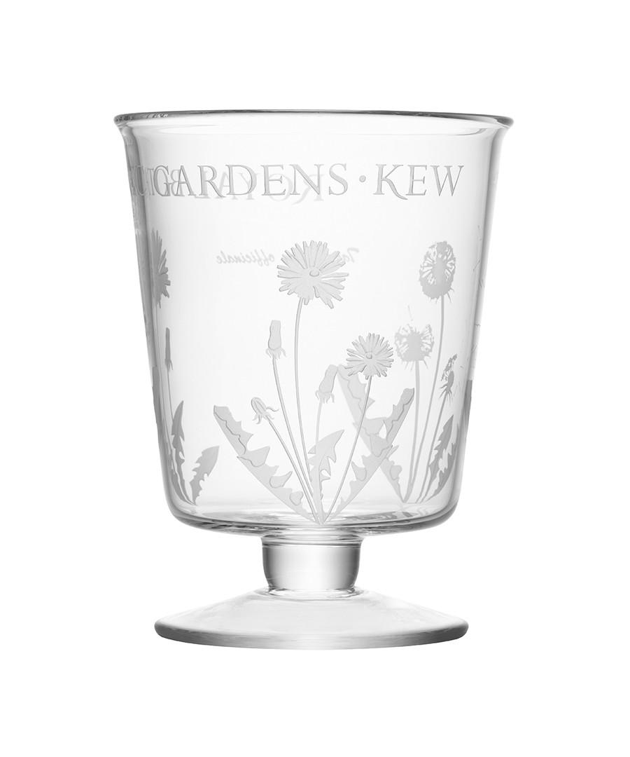 Kew glass dandelion motif lantern 24cm Sale - lsa