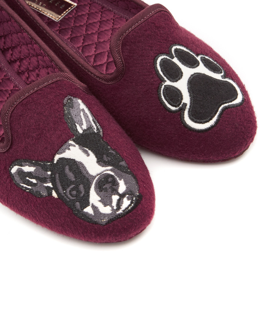 186073a41a24 ... Women s Ayaya red bulldog print slippers Sale - TED BAKER