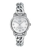 Delancey silver-tone chain watch