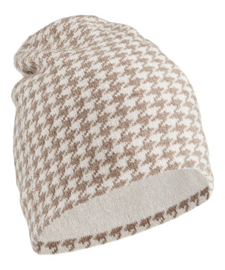 fee52c3f779 Cream cashmere houndstooth hat Sale - JOHNSTONS OF ELGIN Sale