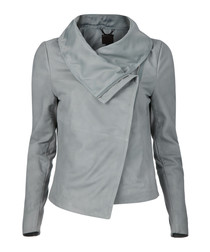 Sionoia mist suede draped jacket