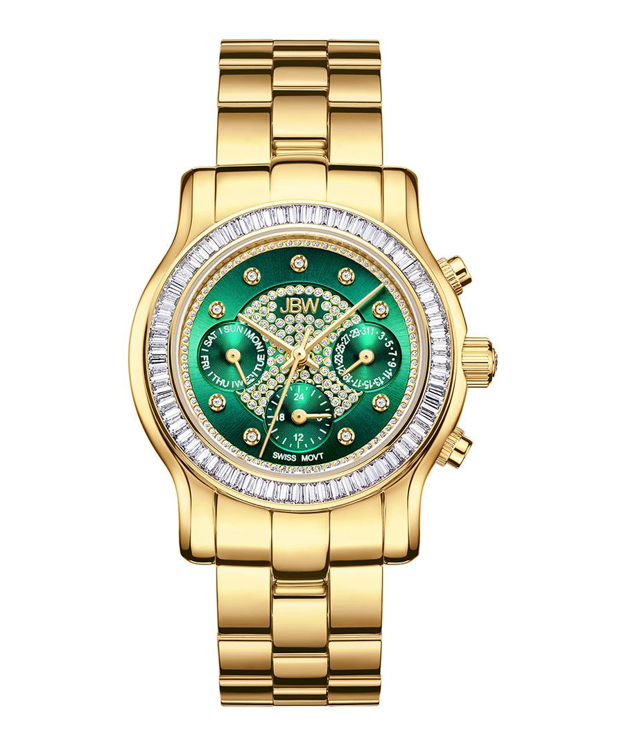 Laurel 18ct gold-plated & diamond watch Sale - jbw