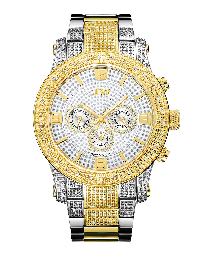 Lynx 18ct gold-plated 80 diamond watch  Sale - jbw