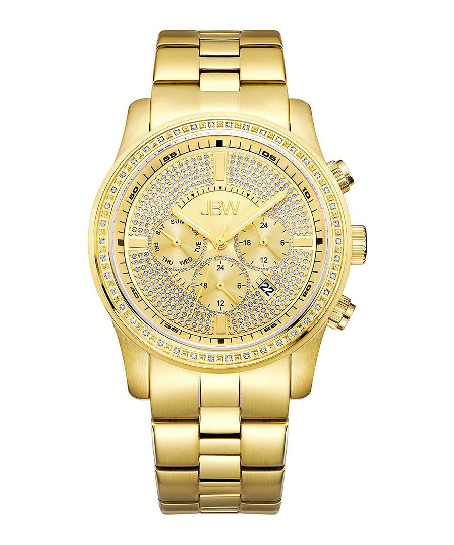 Vanquish 18k gold-plated diamond watch Sale - jbw