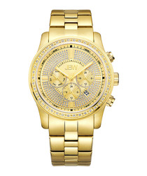 Vanquish 18k gold-plated diamond watch