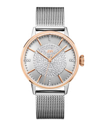Belle rose gold-plated & diamond watch