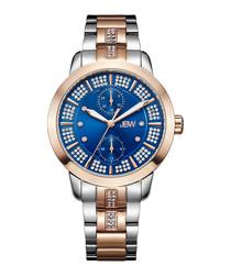 Lumen 18k rose gold-plated watch