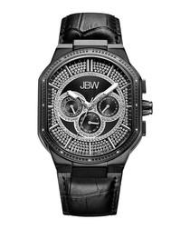 Orion black steel  & diamond watch