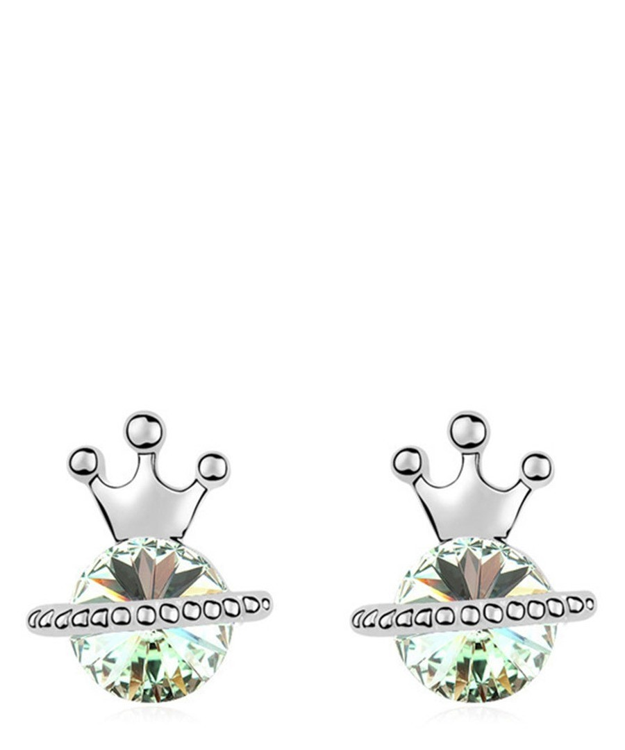Silver-tone & green gold-plated studs Sale - Blue Pearls