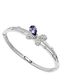 Purple crystal butterfly bangle