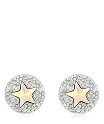 Silver-tone gold-plated star studs