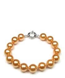 1cm gold saltwater pearl bracelet