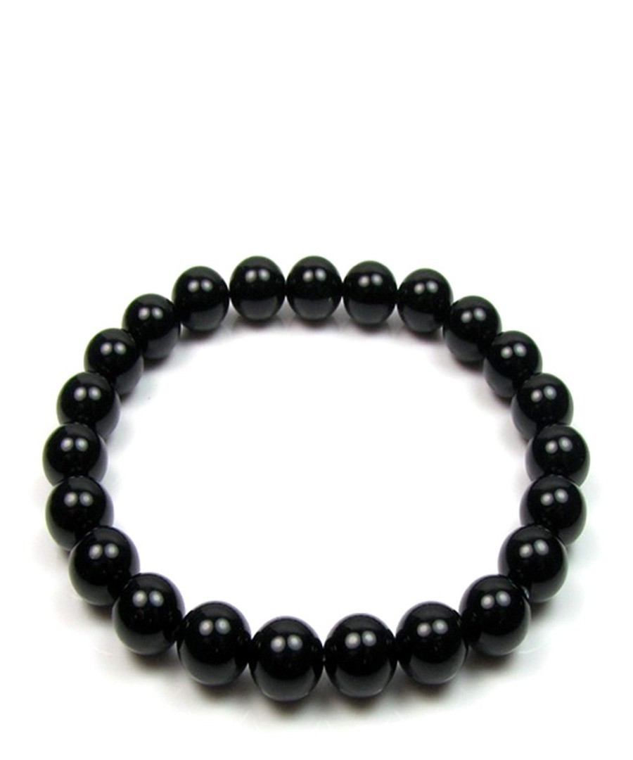 0.8cm black onyx bracelet Sale - Blue Pearls