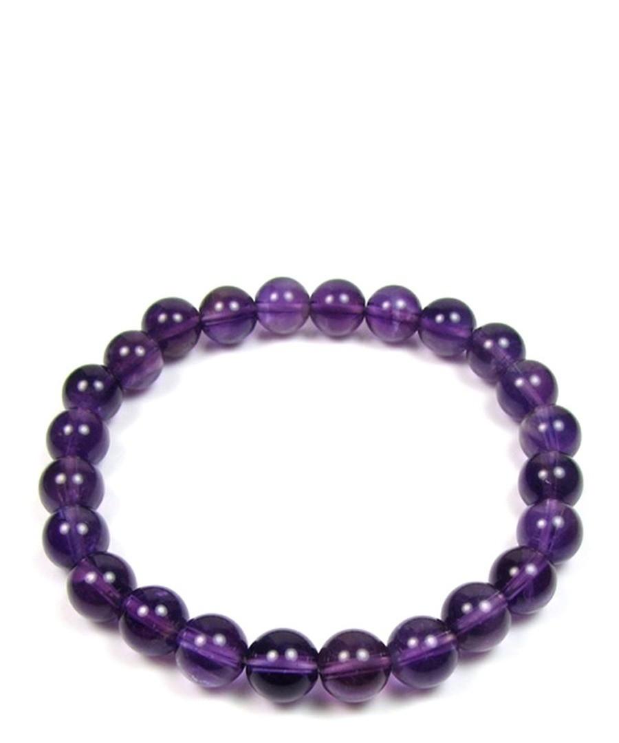 0.8cm purple pearl bracelet Sale - Blue Pearls