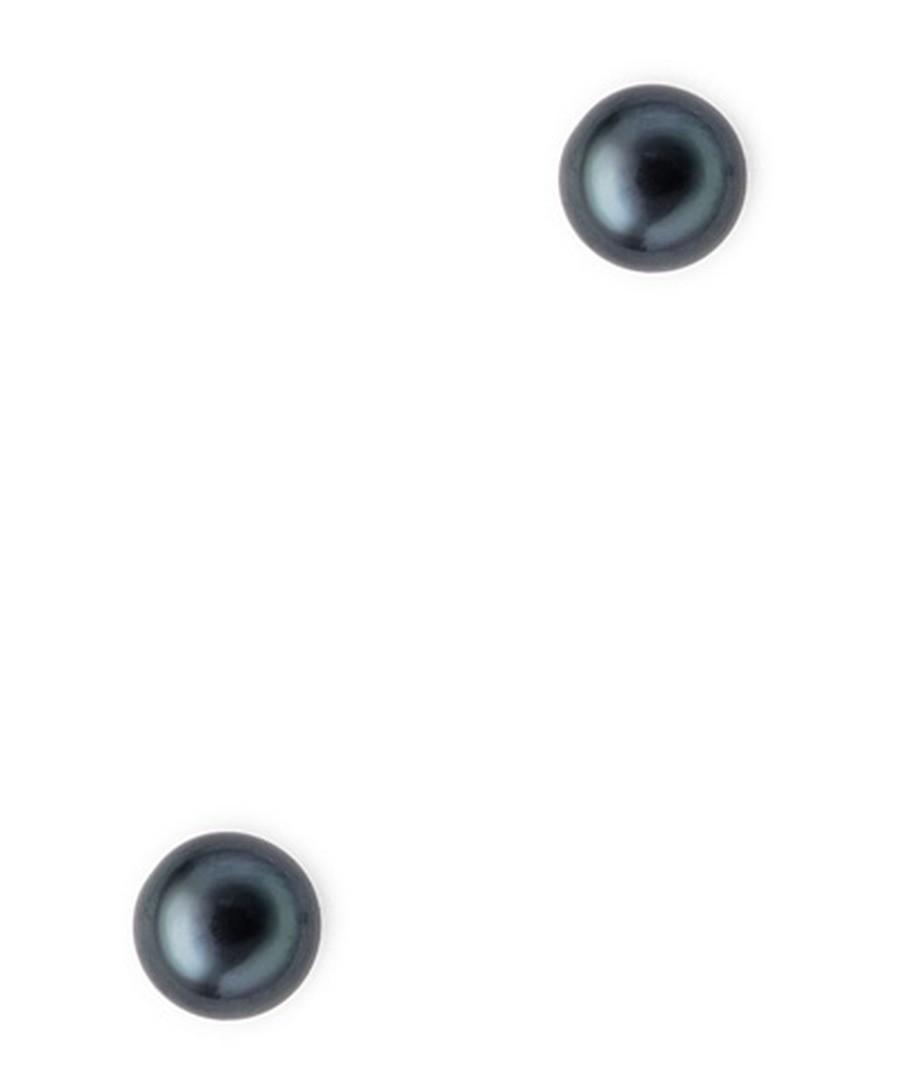 0.7cm black pearl earrings Sale - Blue Pearls