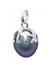 Black Freshwater Pearl, Pendant and Sterling Silver 925/1000