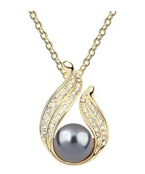 18ct gold-plated crystal necklace