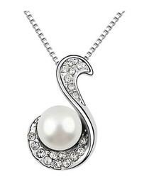 18ct gold-plated & white pearl necklace