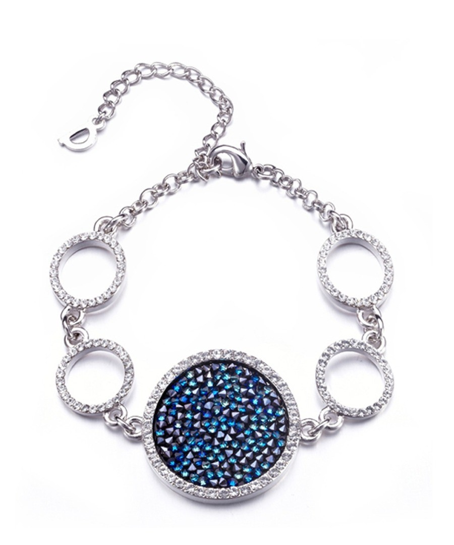 Blue Rock Swarovski Elements Crystal Bracelet Sale - Blue Pearls