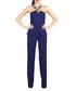 Royal blue peplum jumpsuit  Sale - marmuri Sale