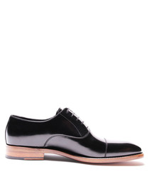 Black leather contrast sole Derbys