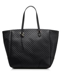 Guccissima black leather shopper bag