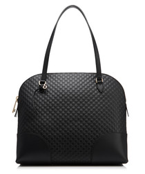 Guccissima black leather shoulder bag