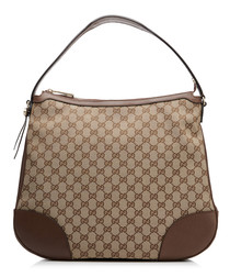 Bree beige & brown shoulder bag