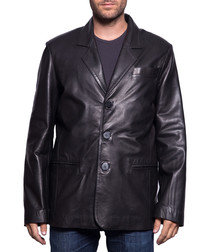 Men's Gary black lambskin blazer