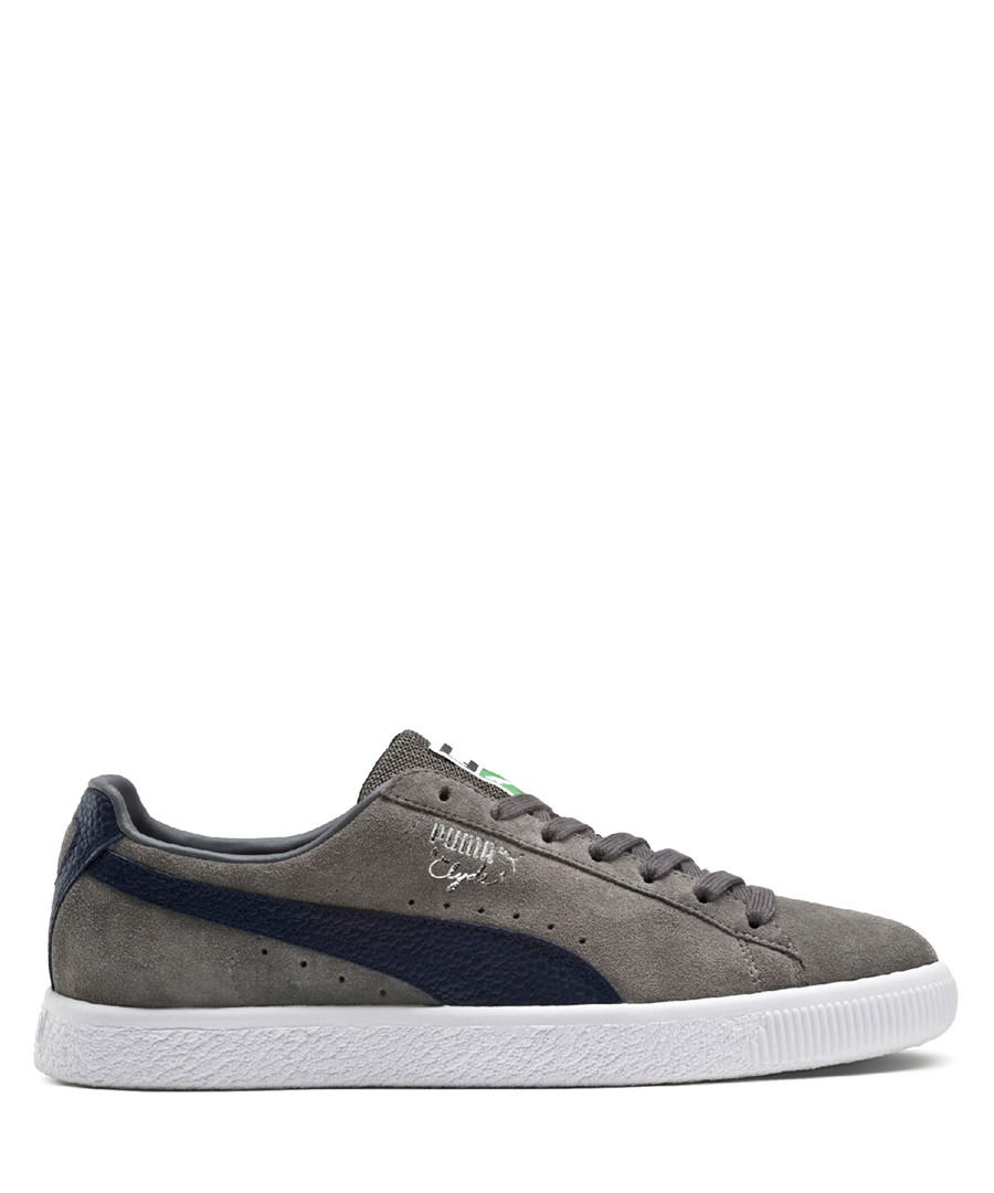 save off 6b9ef f0f89 Discount Clyde grey & blue suede sneakers | SECRETSALES
