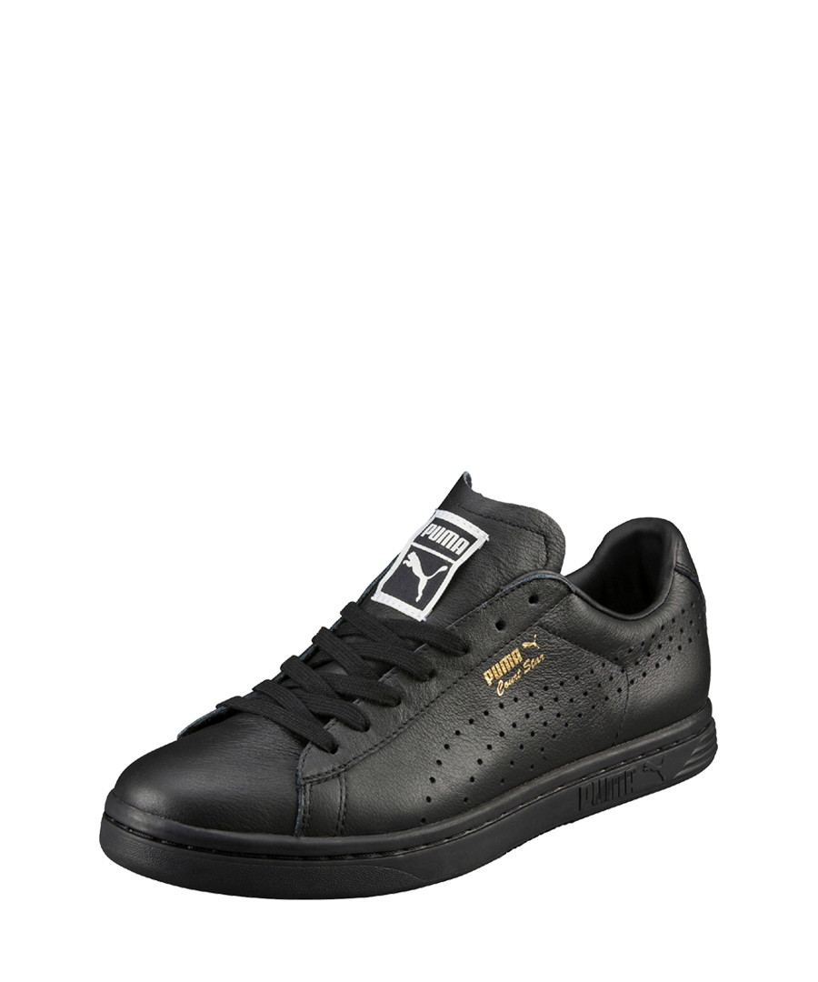 quality design 873a1 2aa75 Discount Court Star black leather sneakers   SECRETSALES