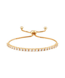 18k gold-plated adjustable bracelet