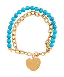 18k gold-plated turquoise bracelet