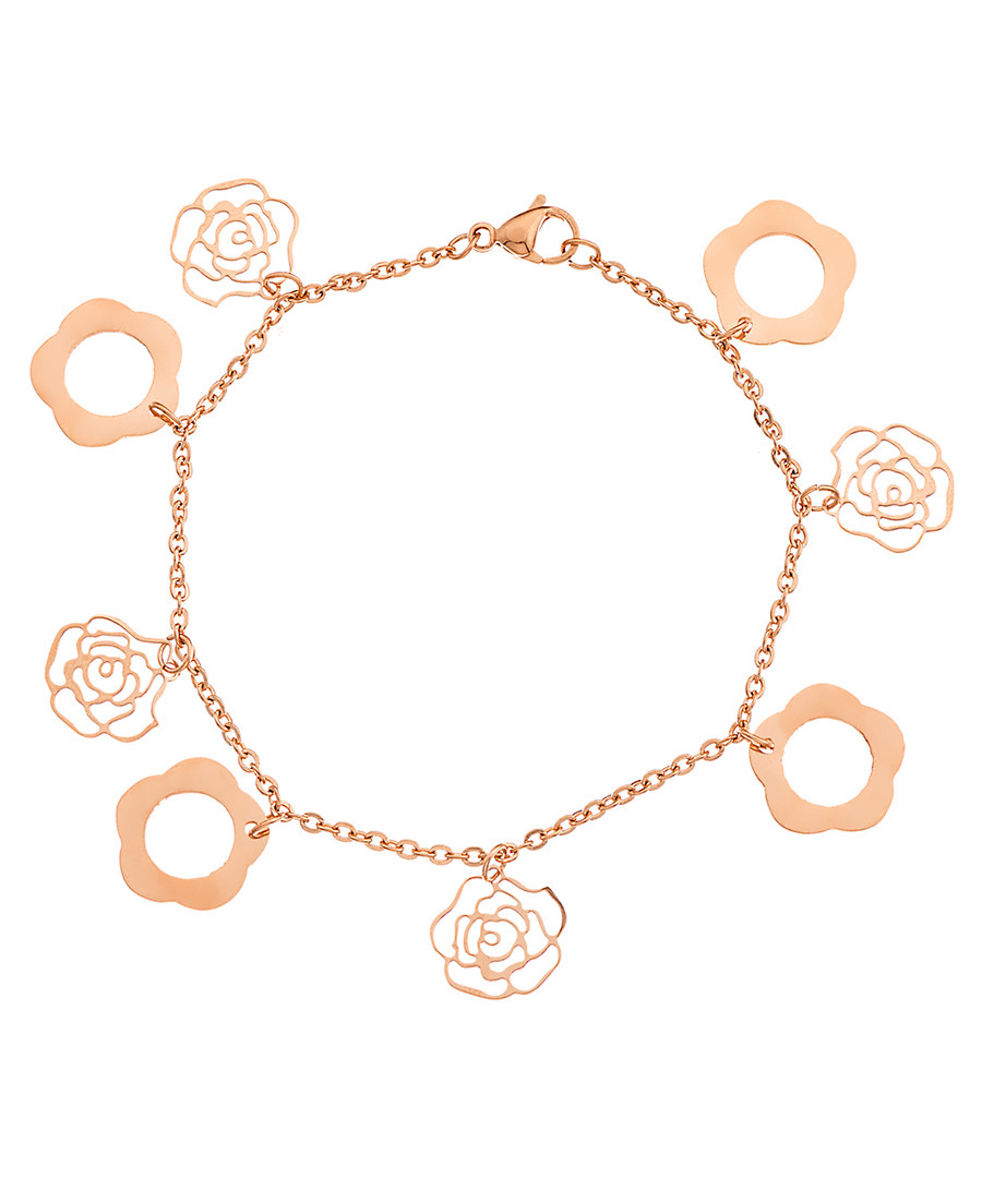18k rose gold-plated charm bracelet Sale - liv oliver
