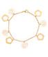 18ct gold-plated rose charm bracelet Sale - liv oliver Sale