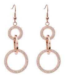 18k rose gold-plated link earrings
