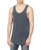 Faded black cotton woven vest